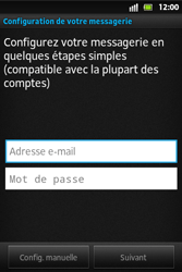 Sony ST27i Xperia Go - E-mail - Configuration manuelle - Étape 5