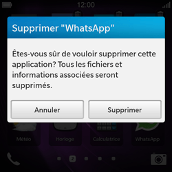 BlackBerry Q10 - Applications - Supprimer une application - Étape 5