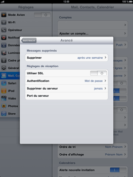 Apple iPad - E-mail - Configuration manuelle - Étape 14
