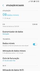 Samsung Galaxy A3 (2016) - Android Nougat - Internet no telemóvel - Como ativar os dados móveis -  7
