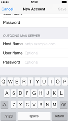Apple iPhone 5 iOS 7 - E-mail - Manual configuration - Step 12