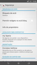 Sony Xperia E4 - Segurança - Como ativar o código de bloqueio do ecrã -  5