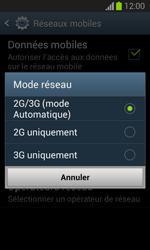 Samsung S7390 Galaxy Trend Lite - Réseau - Changer mode réseau - Étape 7