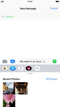 Apple iPhone 8 Plus - iOS 12 - MMS - Sending pictures - Step 8