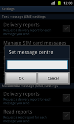 Samsung I8530 Galaxy Beam - SMS - Manual configuration - Step 5