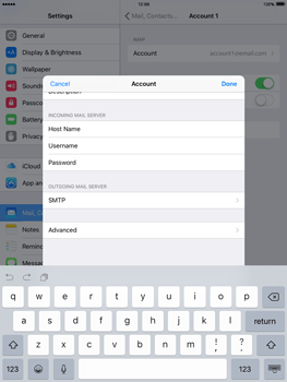 Apple iPad Air 2 iOS 9 - Email - Manual configuration IMAP without SMTP verification - Step 17