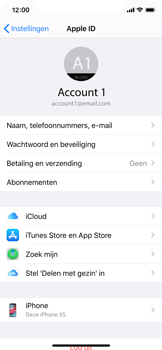Apple iPhone X - iOS 13 - Data - maak een back-up met je account - Stap 8