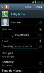 Samsung Galaxy Trend - Contact, Appels, SMS/MMS - Ajouter un contact - Étape 12