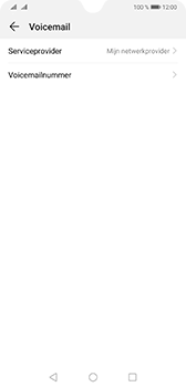 Huawei Mate 20 - Voicemail - handmatig instellen - Stap 8