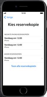 Apple iPhone 6s met iOS 11 (Model A1688) - Instellingen aanpassen - Activeer het toestel en herstel jouw iCloud-data - Stap 22
