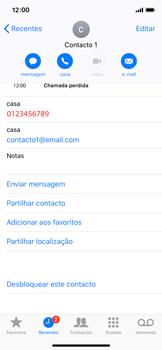 Apple iPhone X - iOS 12 - Chamadas - Como bloquear chamadas de um número -  7