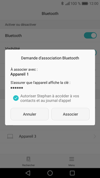 Huawei Mate 8 - Bluetooth - Jumeler avec un appareil - Étape 6