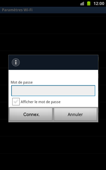 Samsung N7000 Galaxy Note - Wifi - configuration manuelle - Étape 7