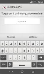 Sony Xperia E1 - Segurança - Como ativar o código de bloqueio do ecrã -  8
