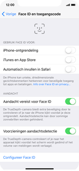 Apple iPhone X - Face ID en Animoji - Face ID uitschakelen - Stap 6