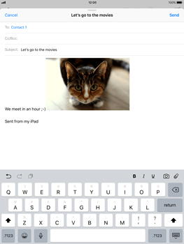 Apple iPad Air - iOS 11 - Email - Sending an email message - Step 12