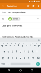 Acer Liquid Zest 4G - Email - Sending an email message - Step 8