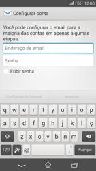 Sony Xperia E4G - Email - Como configurar seu celular para receber e enviar e-mails - Etapa 4