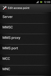 Sony ST21i Xperia Tipo - Mms - Manual configuration - Step 12