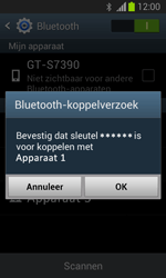 Samsung S7390 Galaxy Trend Lite - Bluetooth - koppelen met ander apparaat - Stap 9