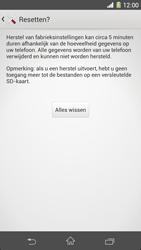 Sony Xperia Z1 4G (C6903) - Instellingen aanpassen - Fabrieksinstellingen terugzetten - Stap 7
