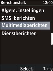 Nokia C2-05 - MMS - Automatisch instellen - Stap 9