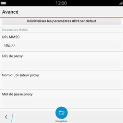 BlackBerry Passport - Mms - Configuration manuelle - Étape 9