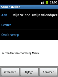 Samsung S5300 Galaxy Pocket - E-mail - E-mail versturen - Stap 8