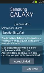 Samsung Galaxy S3 Mini - Primeros pasos - Activar el equipo - Paso 3