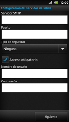Sony Xperia U - E-mail - Configurar correo electrónico - Paso 11