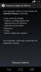 Motorola Moto E (1st Gen) (Kitkat) - Funções básicas - Como restaurar as configurações originais do seu aparelho - Etapa 6