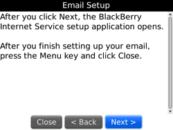 BlackBerry 9700 Bold - E-mail - Manual configuration - Step 7