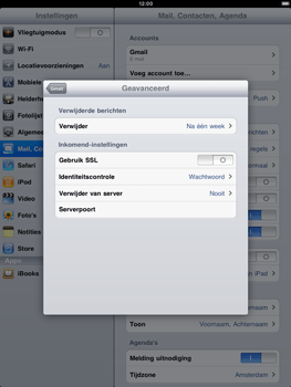 Apple iPad 2 - E-mail - e-mail instellen: POP3 - Stap 14