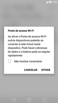 LG G5 Stylus - Wi-Fi - Como usar seu aparelho como um roteador de rede wi-fi - Etapa 9