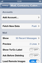 Apple iPhone 4 S - E-mail - Manual configuration IMAP without SMTP verification - Step 5