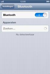 Apple iPhone 4S met iOS 6 (Model A1387) - Bluetooth - Aanzetten - Stap 4