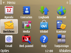 Nokia E72 - SMS - handmatig instellen - Stap 3