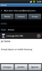 Samsung I9001 Galaxy S Plus - E-mail - envoyer un e-mail - Étape 10