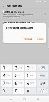 Samsung Galaxy S8 Plus - SMS - Como configurar o centro de mensagens -  9