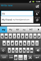 Sony ST27i Xperia Go - E-mail - Sending emails - Step 6