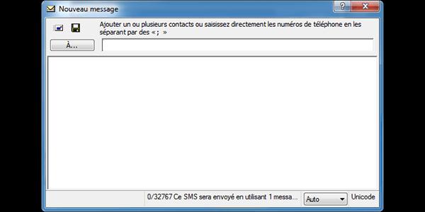 ZTE MF190 - Contact, Appels, SMS/MMS - Envoyer un SMS - Étape 5