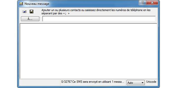 Alcatel OT-X500D - Contact, Appels, SMS/MMS - Envoyer un SMS - Étape 5