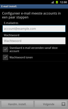 Samsung N7000 Galaxy Note - E-mail - Handmatig instellen - Stap 5