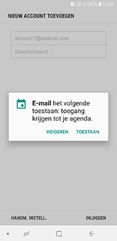 Samsung Galaxy A6 - E-mail - handmatig instellen (outlook) - Stap 11