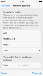 Apple iPhone 5 met iOS 7 - Applicaties - Account aanmaken - Stap 17