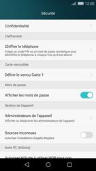 Huawei P8 Lite - Sécuriser votre mobile - Personnaliser le code PIN de votre carte SIM - Étape 4