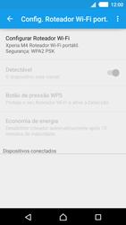 Sony Xperia M4 Aqua - Wi-Fi - Como usar seu aparelho como um roteador de rede wi-fi - Etapa 7