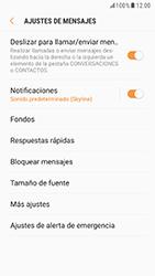 Samsung Galaxy S6 - Android Nougat - Mensajería - Configurar el equipo para mensajes de texto - Paso 6