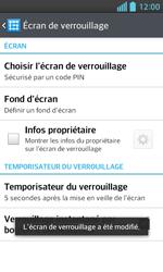 LG Optimus L5 II - Sécuriser votre mobile - Activer le code de verrouillage - Étape 11