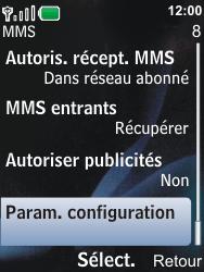 Nokia 6600i slide - MMS - Configuration automatique - Étape 9